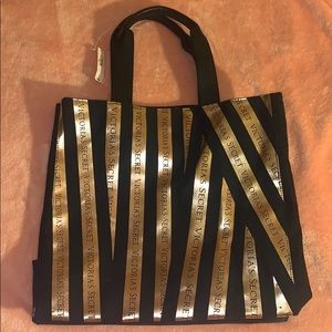 New with tags Victoria's Secret bag Gold and Black